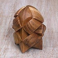 Teakwood puzzle, 'Little Rocket'