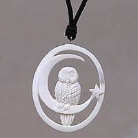 Featured review for Bone pendant necklace, Magic Night