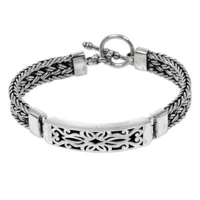 Unique Sterling Silver 925 Pendant Bracelet from Indonesia