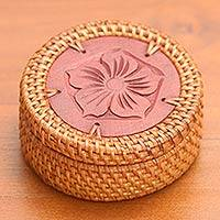 Natural fiber decorative box,