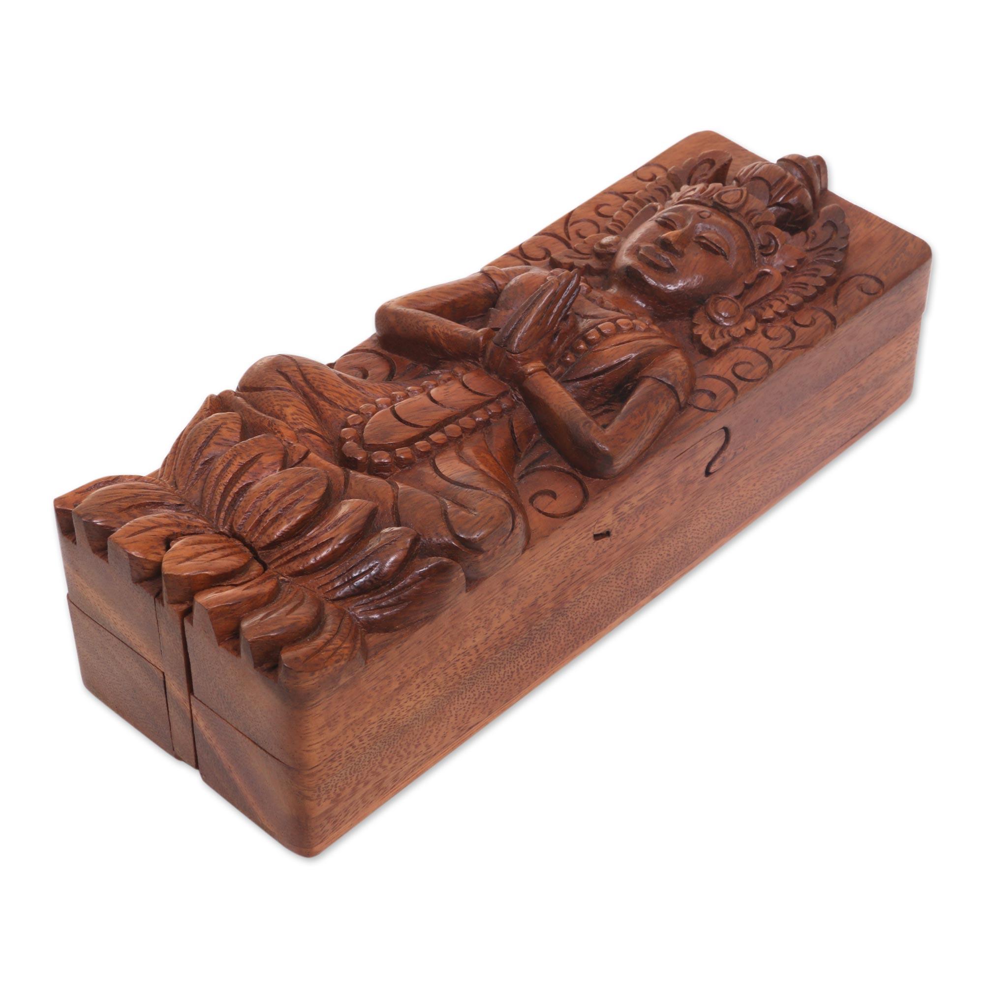 Unicef market hand carved indonesian suar wood