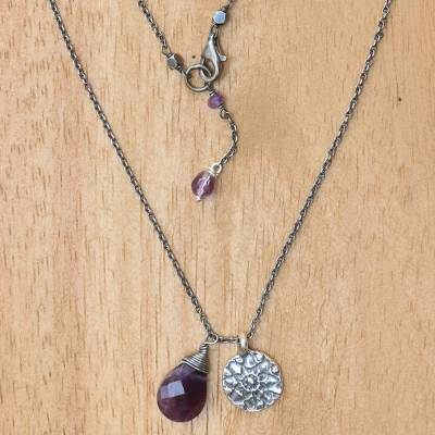 Amethyst flower necklace, Inspiring Lotus