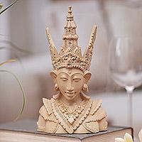 Wood sculpture, 'Rama'