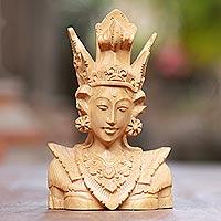 Wood sculpture, 'Sita'