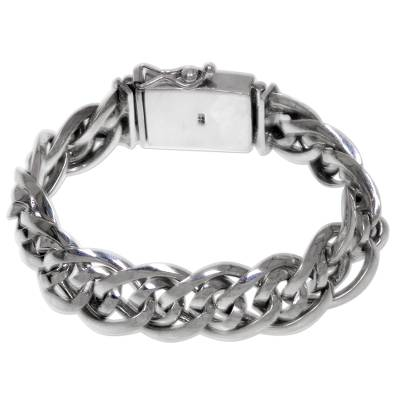 Artisan Crafted Chunky Sterling Silver Men
