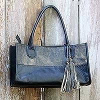 Leather handbag,