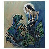 'Digoda' (2010) - Original Biblical Acrylic Painting on Canvas from Bali