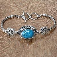 Turquoise pendant bracelet,