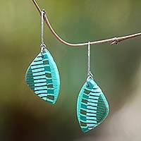 Polymer clay dangle earrings, 'Piano Chord' - Hand Crafted Polymer Clay Dangle Earrings from Bali