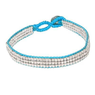 Artisan Crafted Sterling Silver Beaded Bracelet from Bali