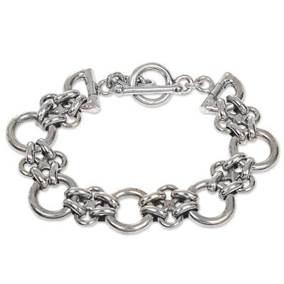 Balinese Hand Crafted Sterling Silver Link Bracelet