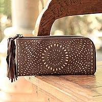 Leather clutch,