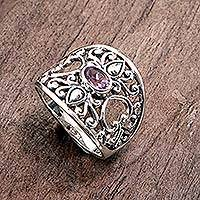 Featured review for Amethyst band ring, Garden of Mystique