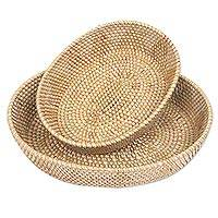 Natural fiber baskets, 'Oval Lombok Grace' (pair) - Handwoven Oval Baskets of Natural Fibers (Pair)