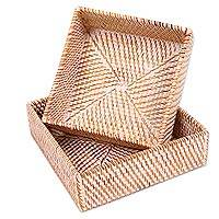 Natural fiber baskets,