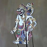 Leather shadow puppet, 'Kapi Menda' - Handcrafted Leather Kapi Menda Monkey Wayang Puppet
