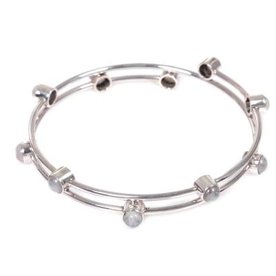 Sterling Silver Rainbow Moonstone Bracelet Indonesia