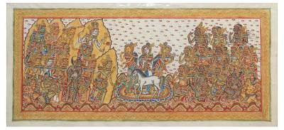 Balinese Traditional Hindu Mahabharata Story Painting