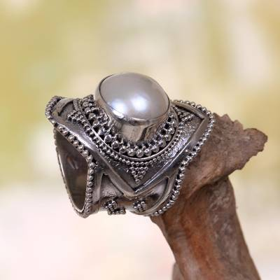 Jewelry charms - Cultured Mabe Pearl Cocktail Ring from Indonesia