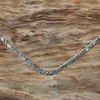Gold accented sterling silver collar necklace,
