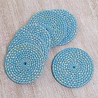 Woven coasters,
