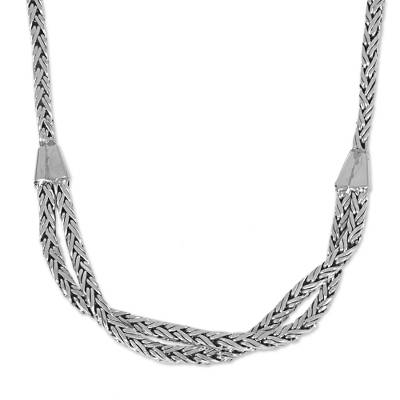 Hand Made Sterling Silver Chain Necklace from Indonesia