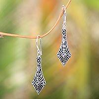 Sterling silver dangle earrings, 'Flying Kites' - Sterling Silver 925 Handcrafted Balinese Dangle Earrings