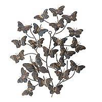Iron wall sculpture, 'Tree of Butterflies' - Artisan Crafted Steel Wall Sculpture Depicting Butterflies