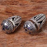 Amethyst stud earrings,