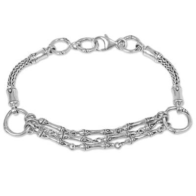 Hand Made Sterling Silver Link Bracelet from Indonesia