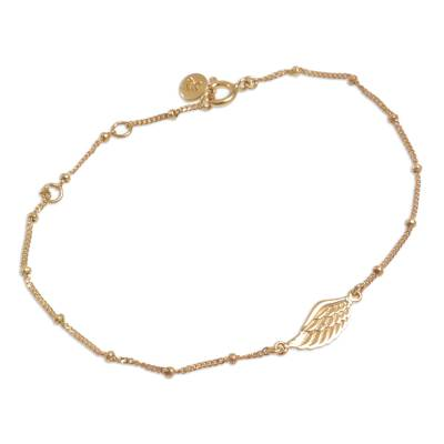 Gold Plated Sterling Silver Pendant Bracelet Wing Indonesia
