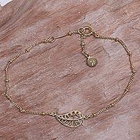 Gold vermeil pendant bracelet,