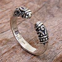 Featured review for Sterling silver wrap ring, Twin Buds