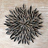 Steel wall hanging Indian Bay Leaf Indonesia