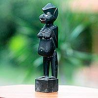 Wood sculpture, 'Flores Ancestor' - Antiqued Flores Island Female Sculpture Carved by Hand
