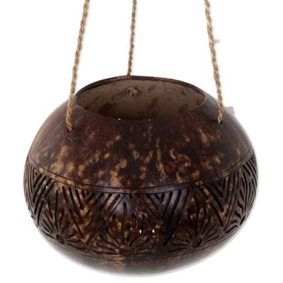 Hand Made Coconut Shell Decorative Accent from Indonesia