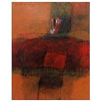 'Deep Love' - Signed Original Balinese Contemporary Abstract Painting
