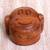 Wood puzzle box, 'Happy Monkey' - Hand Made Wood Puzzle Box Monkey Face from Indonesia (image 2b) thumbail