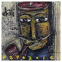 'Dali, The Genius Man' - Cartoon Style Painting of Salvador Dali by Javanese Artist