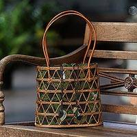 Ate grass handle handbag,