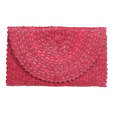 Hand Made Palm Leaf Fiber Clutch Handbag Indonesia