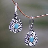 Turquoise Dangle Earrings Turquoise Lake (indonesia)