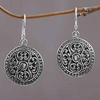 Sterling silver dangle earrings, 'Perfect Alignment' - Handcrafted Sterling Silver Dangle Earrings from Bali