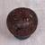 Coconut shell sculpture, 'Buddha's Lore' - Coconut Shell Sculpture on Stand with Buddha Carving (image 2b) thumbail