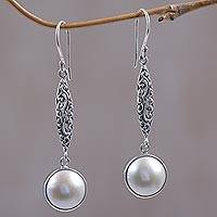 Cultured Pearl Dangle Earrings Moons Bliss (indonesia)