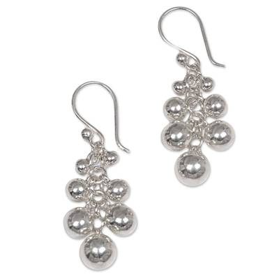 Sterling Silver Cluster Earrings from Indonesia