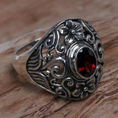 Garnet cocktail ring, Bali Sanctuary