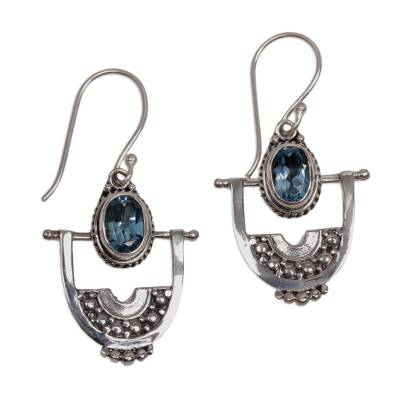 Hand Made Blue Topaz Dangle Earrings from Indonesia