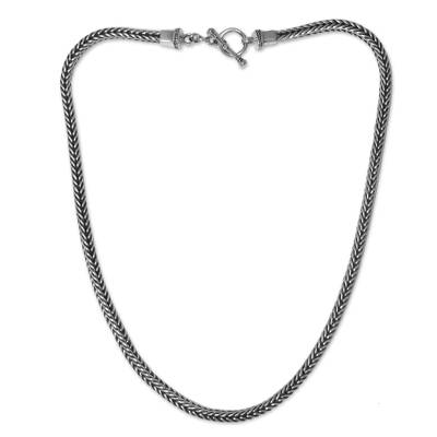 Unisex Sterling Silver Chain Necklace from Bali