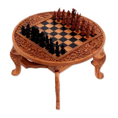 Wood chess set